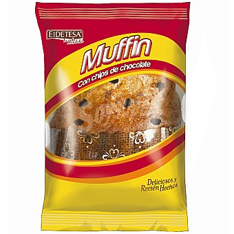 EIDETESA Muffin con chips de chocolate paquete 105 g