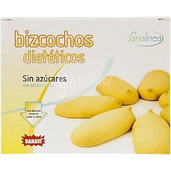 SANAVI Bizcochos de vainilla sin azúcares añadidos tolerado por diabéticos Envase 125 g