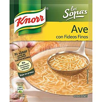 Knorr Sopa de ave con fideos finos Sobre 61 g