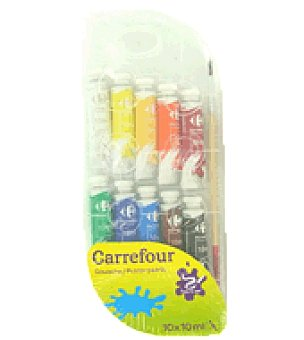 10 tubos tempera 10 ml Pack de 10 unidades
