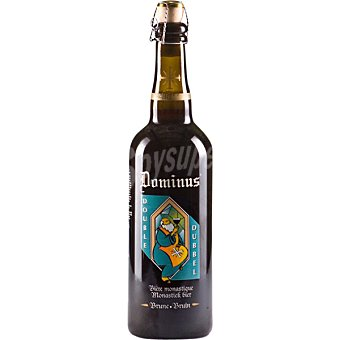 DOMINUS DOBLE cerveza rubia belga de Abadía  botella 75 cl