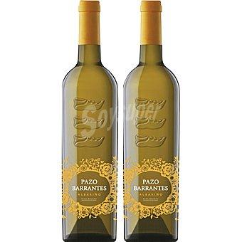 Pazo barrantes Vino blanco albariño D.O. Rias Baixas Estuche 2 botellas 75 cl