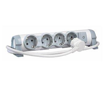 LEGRAND Base múltiple 4 tomas x 2P +T giratoria con interruptor, cable de 1,5 metros 1 Unidad