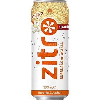 Zitro granini refresco de naranja y azahar de burbujas de aguja lata 33 cl
