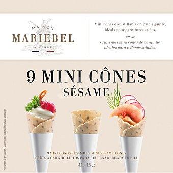 Maison mariebel Mini conos crujientes de barquillo con sésamo ideales para rellenos salados  estuche 9 unidades