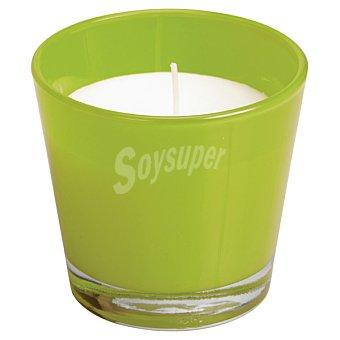 SPAAS Vela Perfumada en vaso cónico en color verde lima