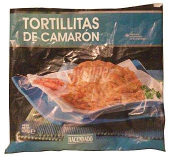 Hacendado Tortillitas de camaron congeladas Paquete 400 g