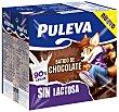 Batido con sabor a chocolate realizado con un 90% de leche y sin lactosa 6 x 200 ml Puleva