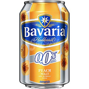 BAVARIA 0,0% cerveza sin alcohol malta-melocotón Holanda  lata 33 cl