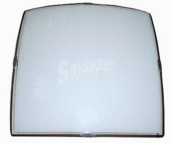 DUPI Plafón cuadrado de cristal modelo Mode, 30 centímetros, 2 bombillas casquillo E27 con potencia máxima de 60 Watios 1 unidad