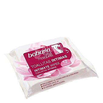 Babaria Toallitas íntimas rosa mosqueta 12 ud