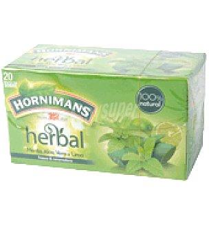 Hornimans Infusión herbal con aloe vera y lima Caja de 20 bolsitas