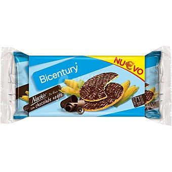 Bicentury Tortitas de maíz con chocolate negro Nackis Packs 2x2 unidades (estuche 54 g)