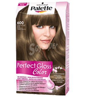 Palette Tinte Perfect Gloss Color 600 Rubio Oscuro Nuez 1 ud