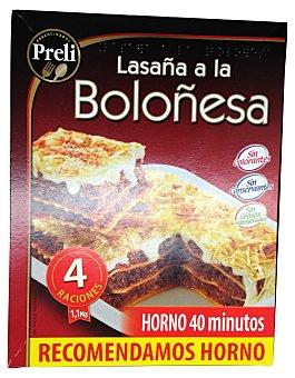PRELI Lasaña boloñesa 4 raciones congelada Paquete 1100 g