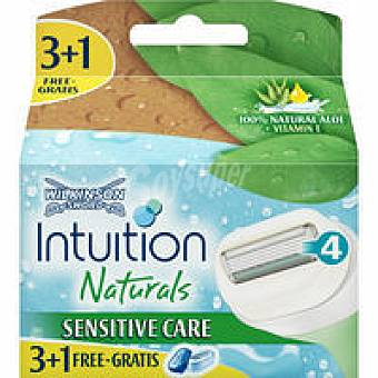 WILKINSON Intiuition Naturals Cargador Pack 3+1 unid