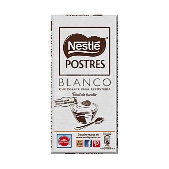 Postres Nestlé Chocolate blanco para repostería fácil de fundir  Tableta 180 g