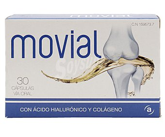 Movial Complemento alimenticio para el normal funcionamiento de las articulaciones 30 comprimidos
