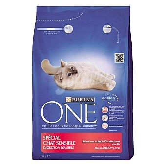 Purina One Alimento especial para gatos con salmón y arroz digestión sensible Paquete de 3 kg
