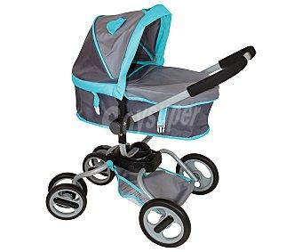 Rik&Rok Auchan Carrito de paseo con manillar regulable para muñecos bebé de hasta 46 centímetros ROK