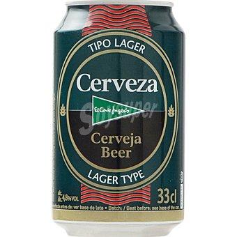 El Corte Inglés Cerveza rubia nacional lata 33 cl Lata 33 cl