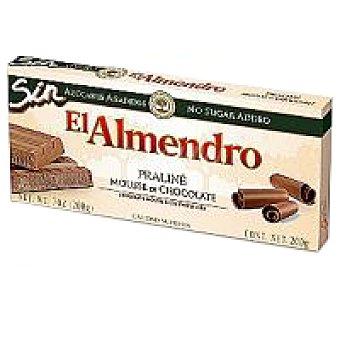 El Almendro Turrón praliné-chocolate sin azúcar Caja 200 g