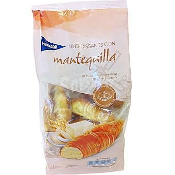 Hipercor Croissants con mantequilla bolsa 300 g 10 unidades
