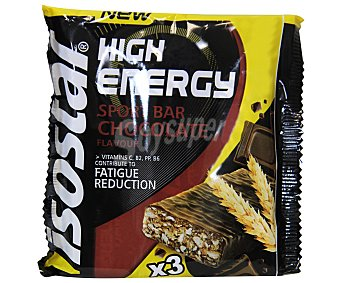 Isostar Barritas de chocolate high energy 105 gramos