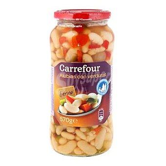Carrefour Combinado de alubias con zanahoria, pimiento rojo, pimiento verde y cebolleta 400 g