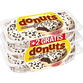 Panrico Donuts dálmata con chocolate blanco y pepitas de cacao  4+2 unidades (envase 348 g)