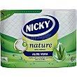 Papel higiénico Aloe Vera 3 capas Paquete 6 rollos Nicky