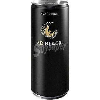 28 BLACK Premium Drink Bebida energética natural acai Lata 25 cl
