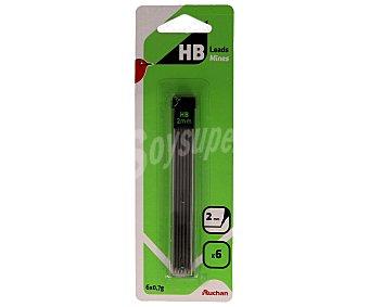 Auchan Estuche de 6 minas de dureza HB y grosor de 2 milímetros 6 unidades