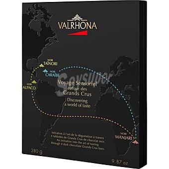 Valrhona Cofre surtido de chocolates del mundo 4 tabletas de 70 g estuche 280 g 70 g