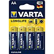 Pilas long life LR6-AA pack 4 uds Pack 4 uds Varta