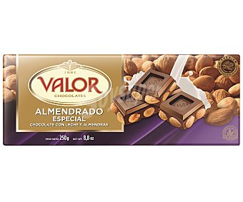 Valor Chocolate almendrado especial con leche 250 gr