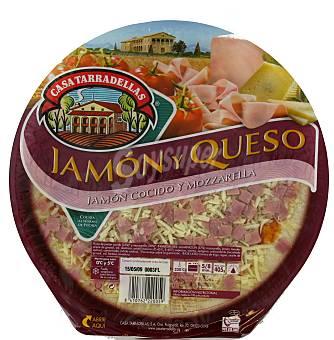 Casa Tarradellas Pizza de jamón y queso 405 g