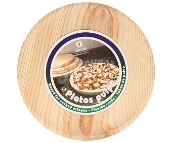 INALSA Plato de 26 centímetros de diámetro para pulpo o pizza fabricado en madera 1 Unidad