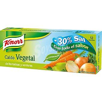 KNORR STARLUX Caldo suave hortalizas y verduras 12 pastillas Estuche 109 g