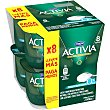 Activia natural edulcorado 0% 8 unidades de 125 g Activia Danone