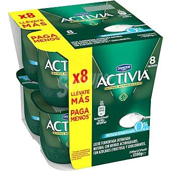 Activia Danone Activia natural edulcorado 0% 8 unidades de 125 g