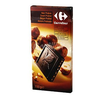 Carrefour Tableta chocolate negro praliné 150 g