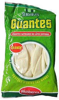 Rubberex Guantes sensible color carne talla grande Paquete de 2 unidades