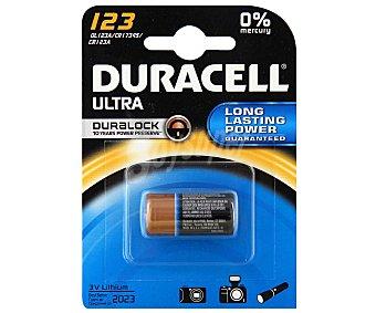 DURACELL Pila Litio M3 DL123 3V 1 Unidad