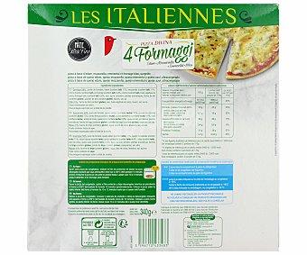 Auchan Pizza de masa fina a los 4 quesos 340 gramos