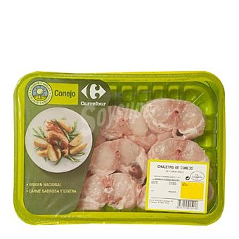 Carrefour Calidad y Origen Chuletas de conejo Bandeja de 500.0 g.