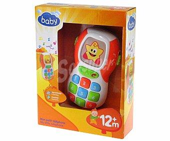 BABY Mi Primer Teléfono Móvil, con colores vivos, sonidos y luces 1 Unidad