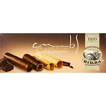 Birba Cubanos rollitos de galleta recubiertos de chocolate estuche 90 g Estuche 90 g