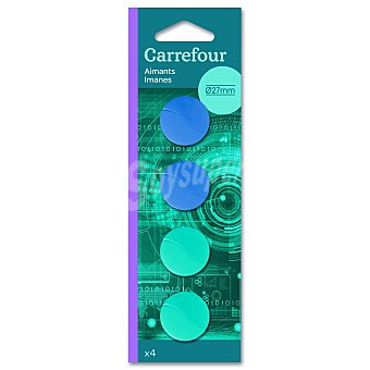 Carrefour Blister 4 Imanes 27mm 4 ud