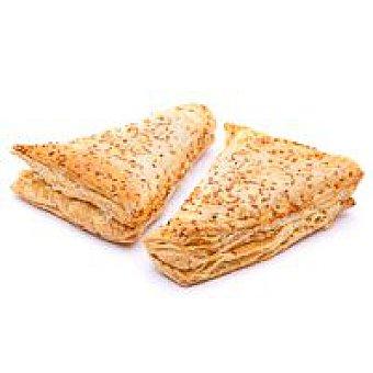 Triángulo hojaldrado de jamón-queso Bandeja 2 unid